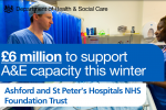 £6 million funding announced for St Peter's A&E